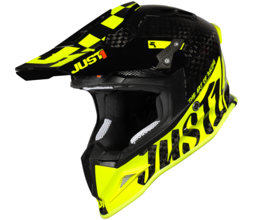 JUST1 J12 Pro Racer Helm gelb Carbon Gloss